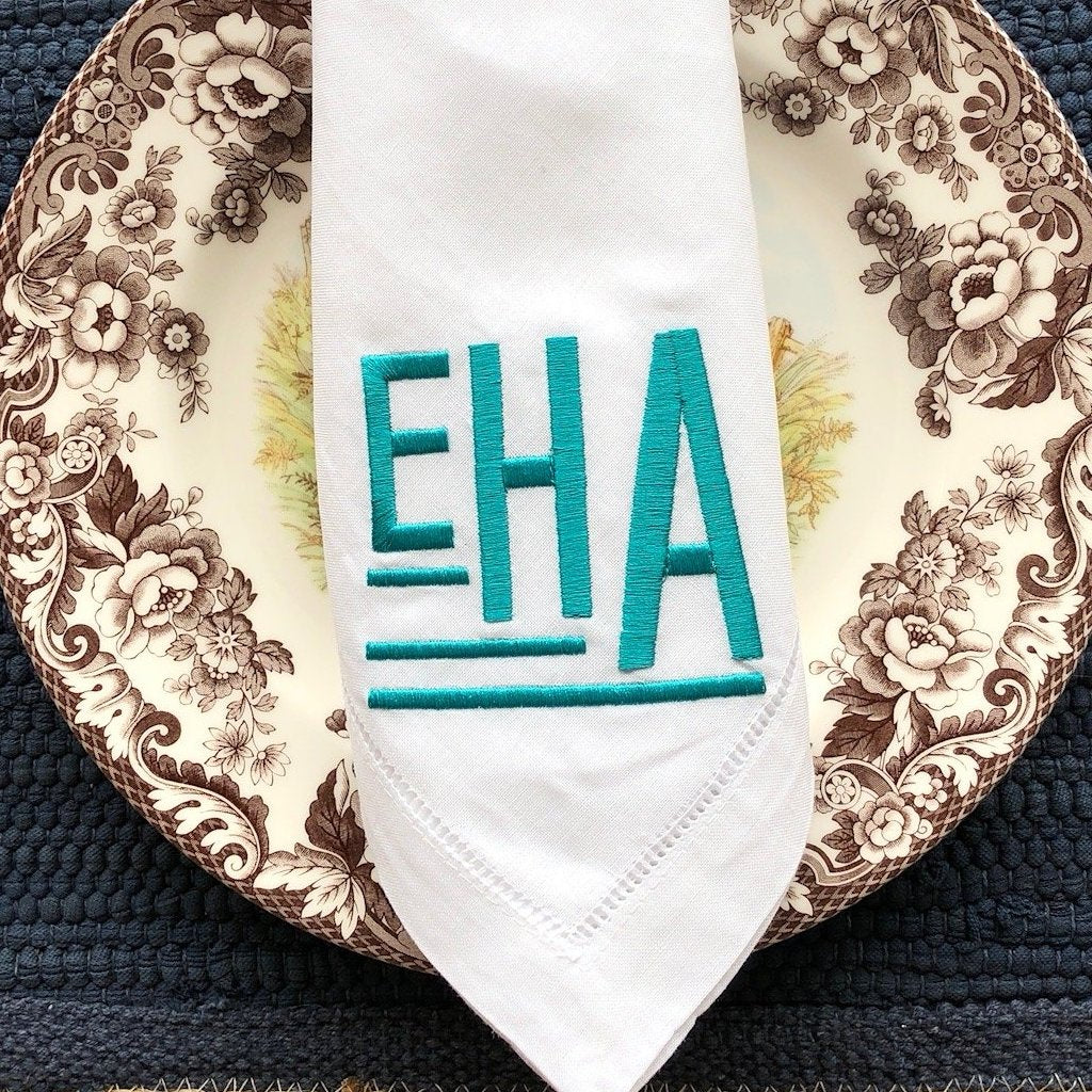 Art Deco Monogram Napkin