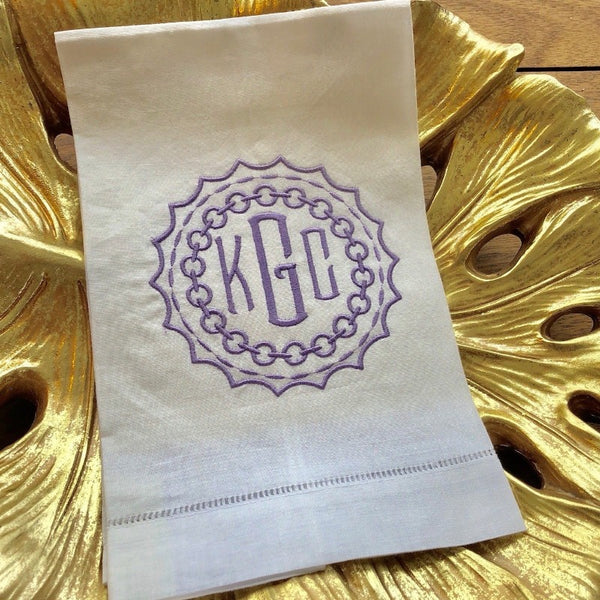 Medallion Monogram Guest Towel