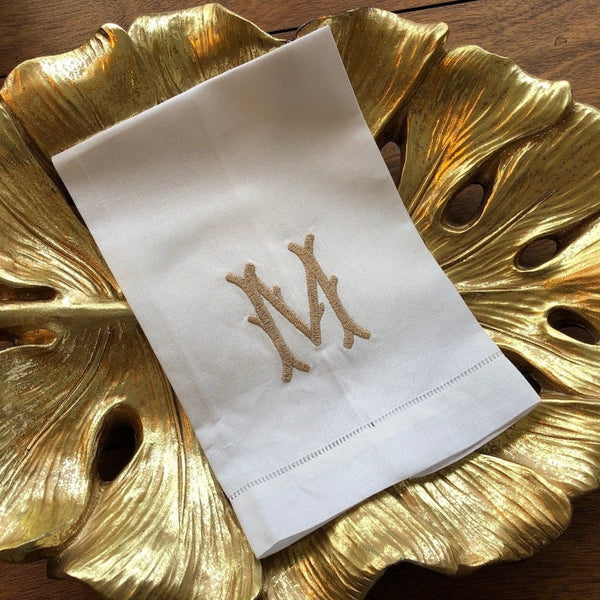 Twig Monogram Guest Towel