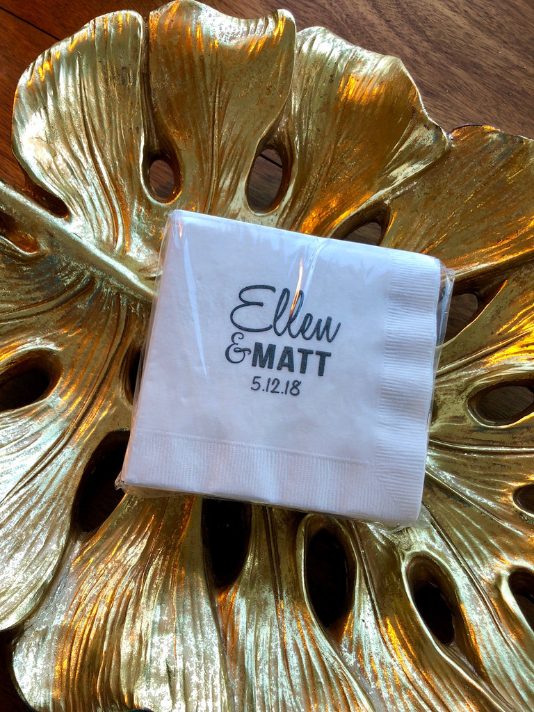 Personalized Paper Napkins