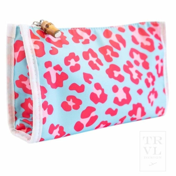 Leopard Pink Day Tripper Makeup Pouch
