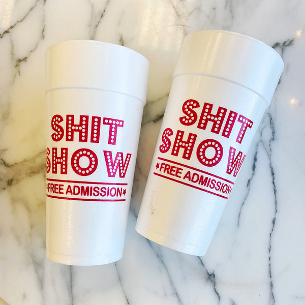 Shit Show Cups Red