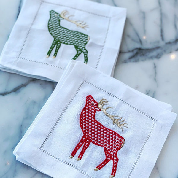 Stag cocktail napkins