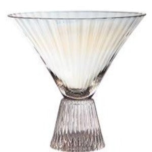 Iridescent Beveled Martini Glass