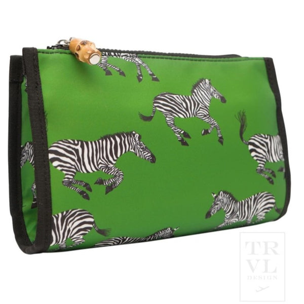 Green Zebra Day Tripper Makeup Pouch