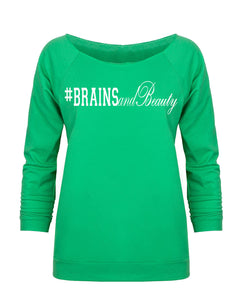 #BrainsandBeauty 📚💅🏾looseneck raglan