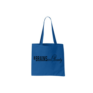 #BrainsandBeauty 📚💅🏾tote bag