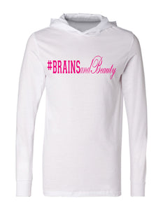 #BrainsandBeauty T-shirt hoodies 📚💅🏾