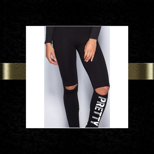 P.R.E.T.T.Y. cut-out knee legging