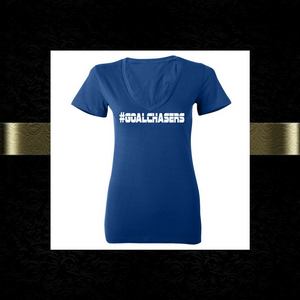 #GoalChasers V-neck tee