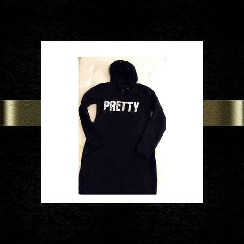 P.R.E.T.T.Y. hooded dress