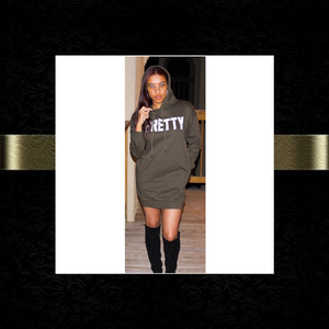 """P.R.E.T.T.Y."" French Terry Hoodie Dress"