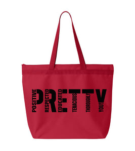 P.R.E.T.T.Y. large tote