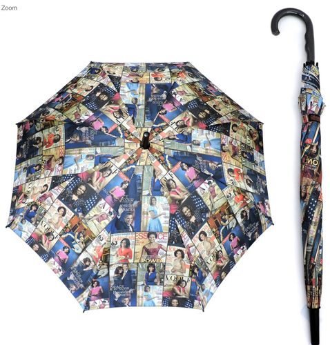Obama's magazine print umbrella