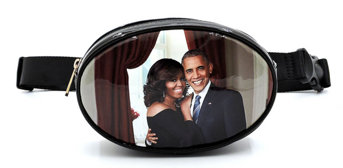 Obama's magazine print fanny pack