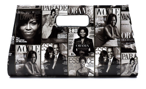 Obama Magazine Cover Collage Large Clutch