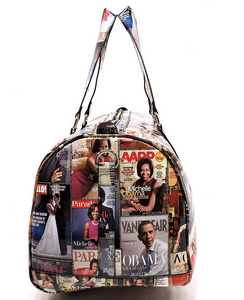 "Obama's Magazine Cover Collage 20"" Duffle Bag"