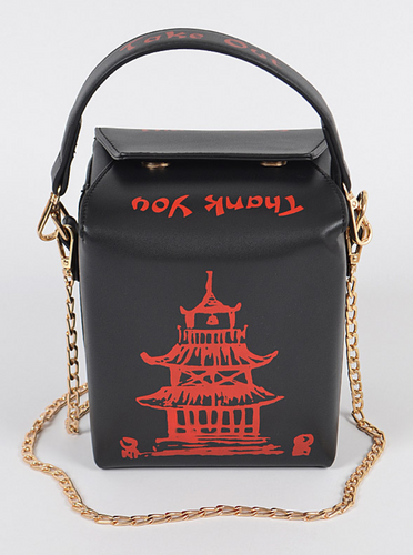 Chinese take out clutch w/handle