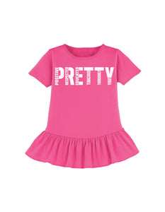 """PRETTY"" youth ruffle tee"