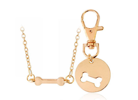 2 Pack of Dog Bone BFF Necklaces for you and your dog!