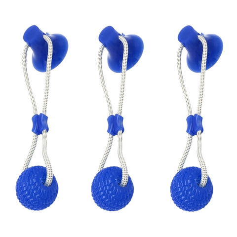 3 Pack Of Suction Cup Dog Tug Toys