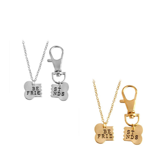 2-Pack of Best Friends Necklaces For you and your dog!