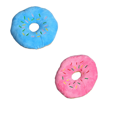 2-Pack of Squishy Doughnut Squeak Toys!