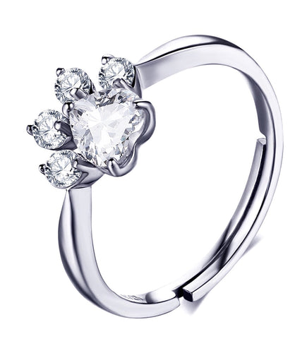 Silver Paw Ring