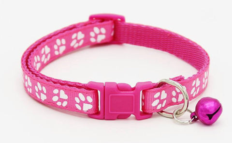 Bell Charm Pet Paw Collar