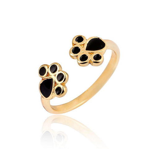 Gold Paw Wrap Ring