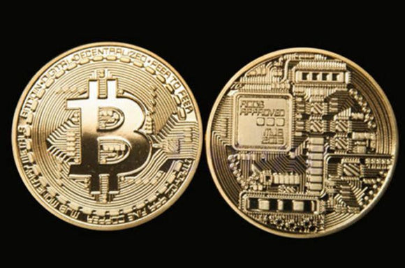 Collectible Set of Gold Plated Physical Bitcoins