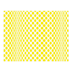Yellow circles on a wave - woven placemat