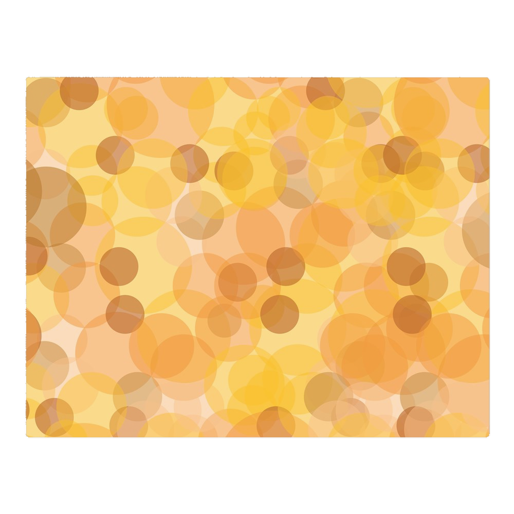 Yellow & orange circles - woven placemats