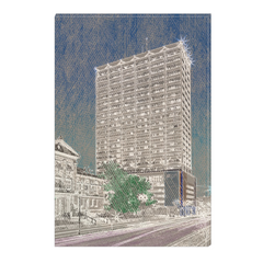 Liberty Tower - South Bend, Indiana, digital art, wall art, canvas wrap, ready to hang