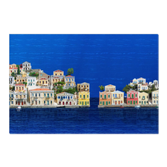 Symi - digital art, wall art, canvas wrap, ready to hang