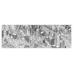 New York City - digital art, wall art, canvas wrap, digital sketch, ready to hang