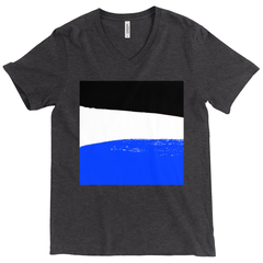 Blue, Black & White - high quality t-shirt with artwork