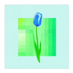 Blue Tulip - digital art, wall art, canvas wrap, ready to hang