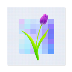Purple Tulip - digital art, wall art, canvas wrap, ready to hang