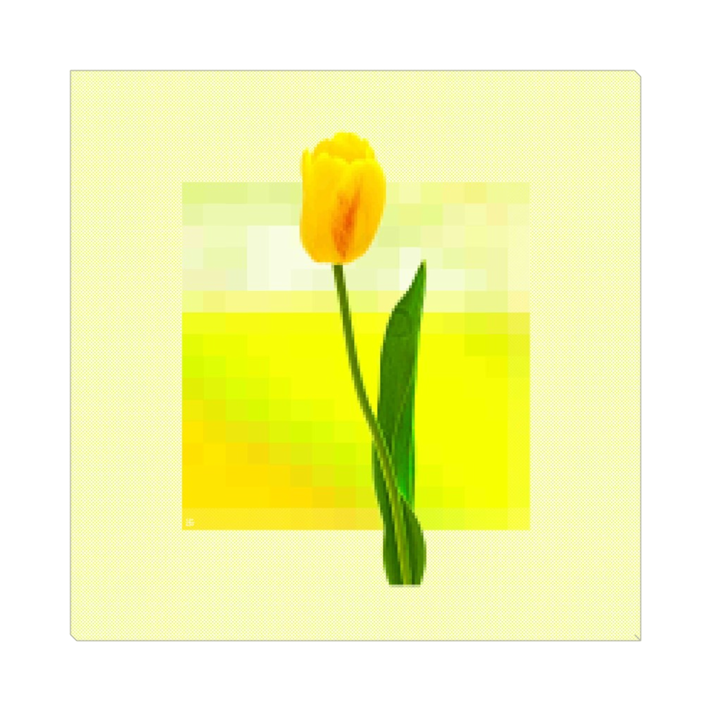 Yellow Tulip - digital art, wall art, canvas wrap, ready to hang