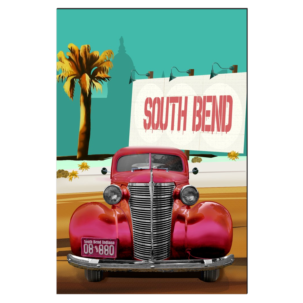 Studebaker Billboard - Studebaker, South Bend, digital art, wall art, canvas wrap, ready to hang