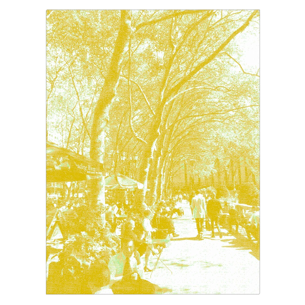 A Walk in the Park - Bryant Park, New York, digital art, wall art, canvas wrap, ready to hang