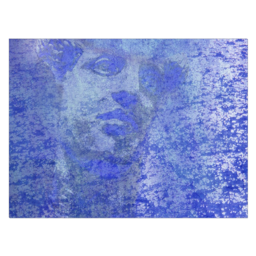 Hermes in Blue - digital art, wall art, canvas wrap, ready to hang