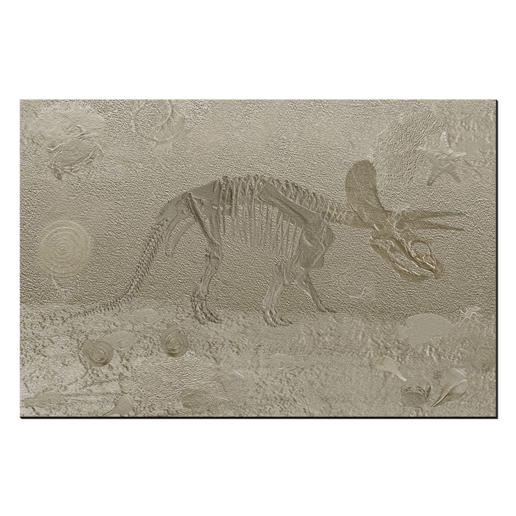 Triceratops - digital art, wall art, canvas wrap, ready to hang