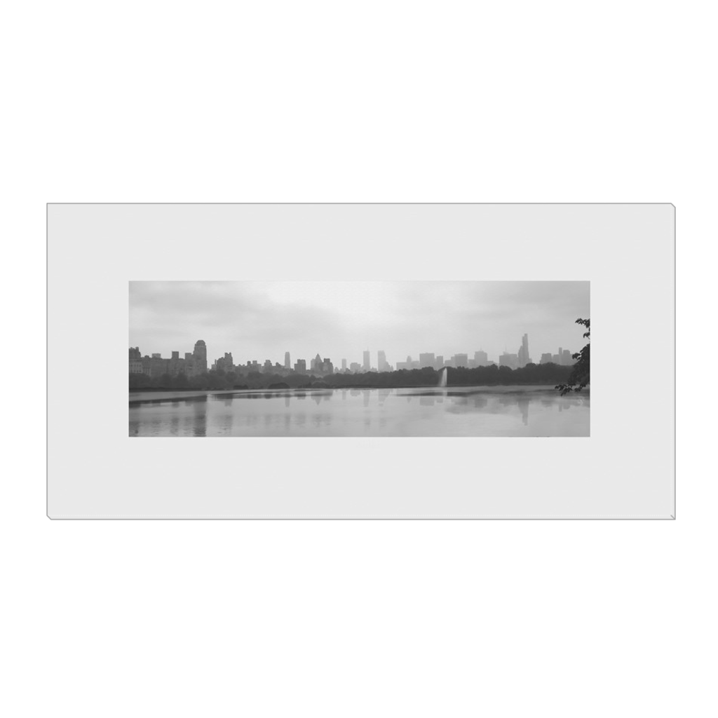 Skyline & Reflections at the Park #2 - digital art, wall art, canvas wrap, ready to hang