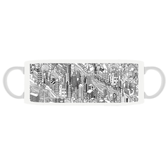 Midtown NYC - Midtoown, NYC, New York City quality ceramic mug, sports handle, dishwasher and microwave safe