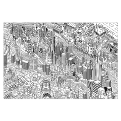 New York City - digital art, wall art, canvas wrap, ready to hang