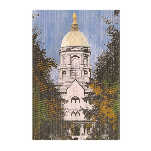 Notre Dame - digital art, wall art, canvas wrap, ready to hang