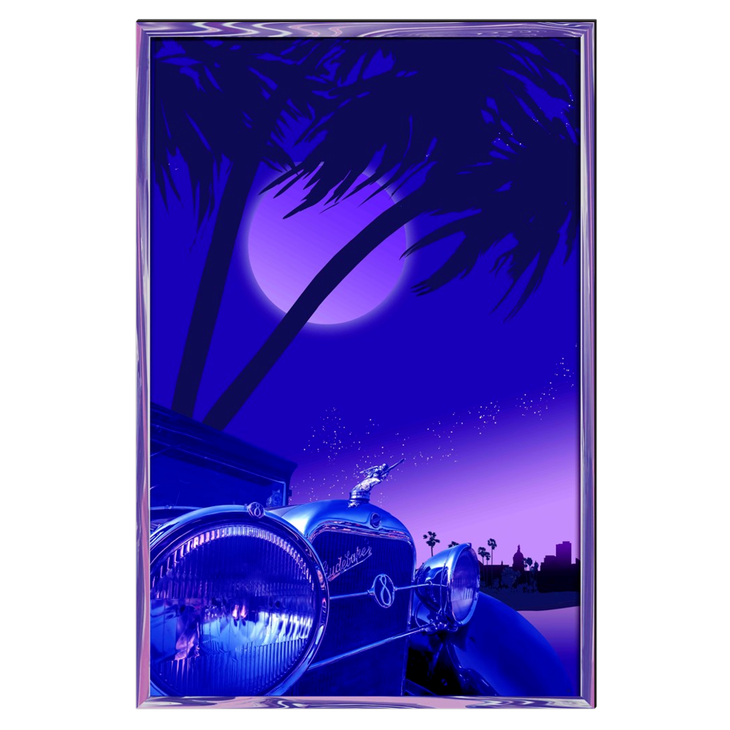 Commander & Palms - Studebaker, digital art, wall art, canvas wrap, ready to hang