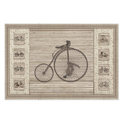 Old Bikes & Bamboo - digital art, wall art, canvas wrap, ready to hang